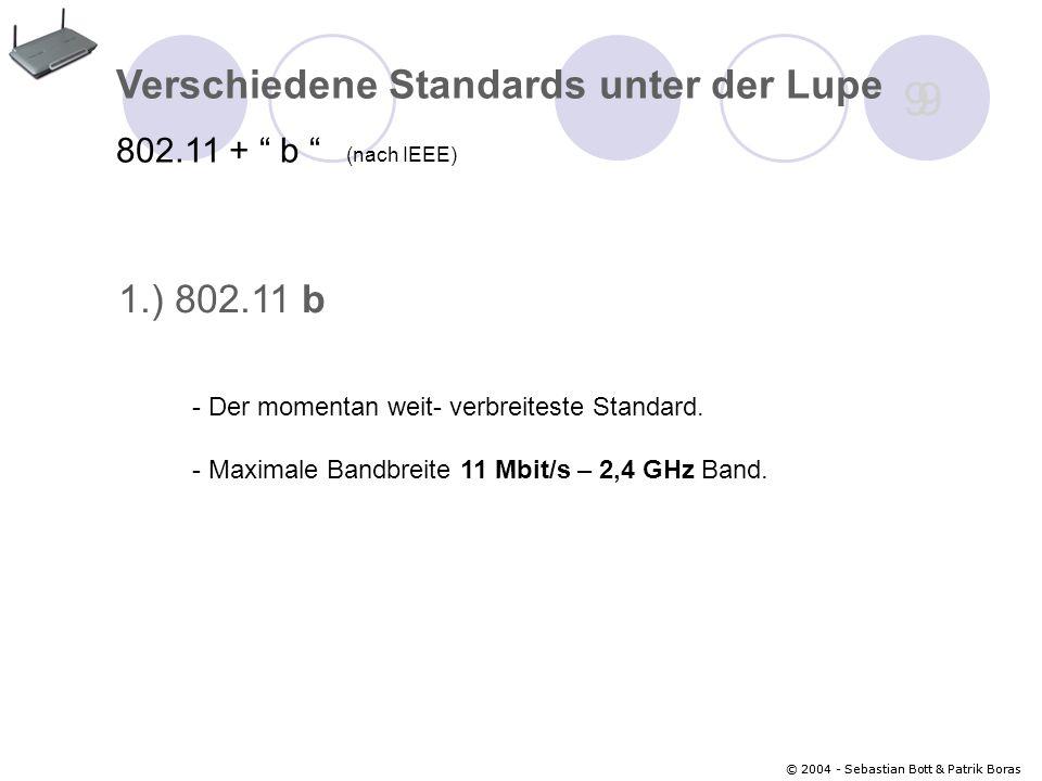 © 2004 - Sebastian Bott & Patrik Boras 20 Wardriving Bsp.: NetStumbler (Wardriving- Software)