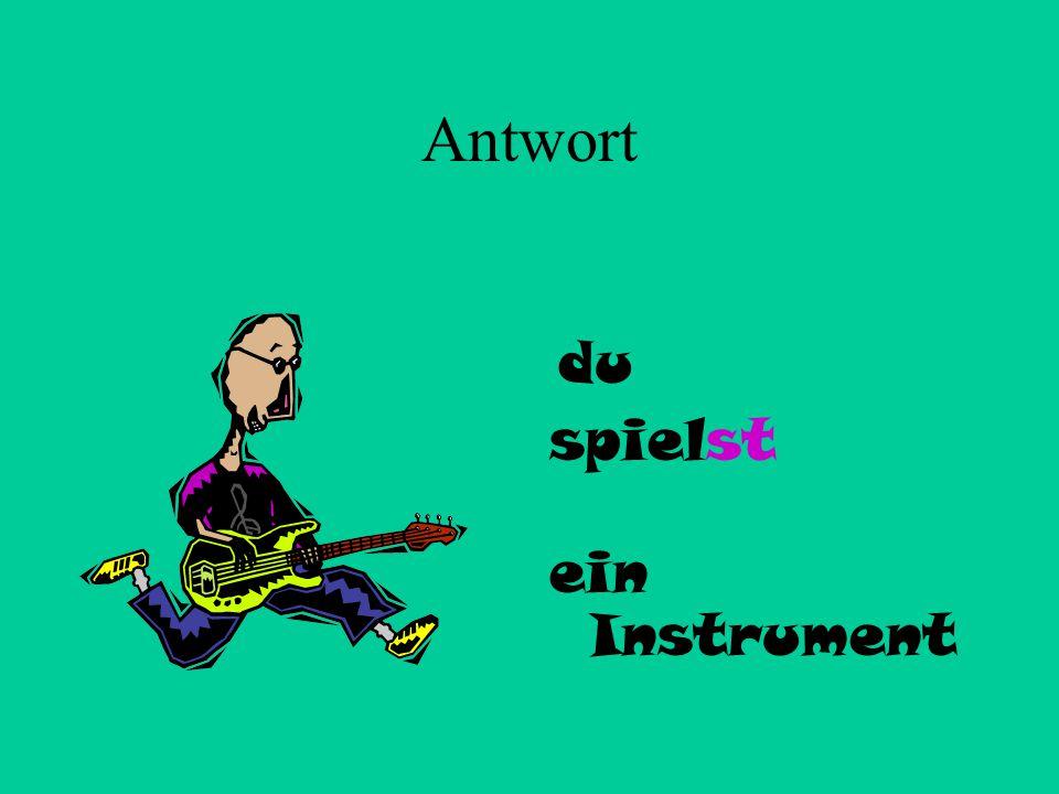 4 du + spielen ein Instrument