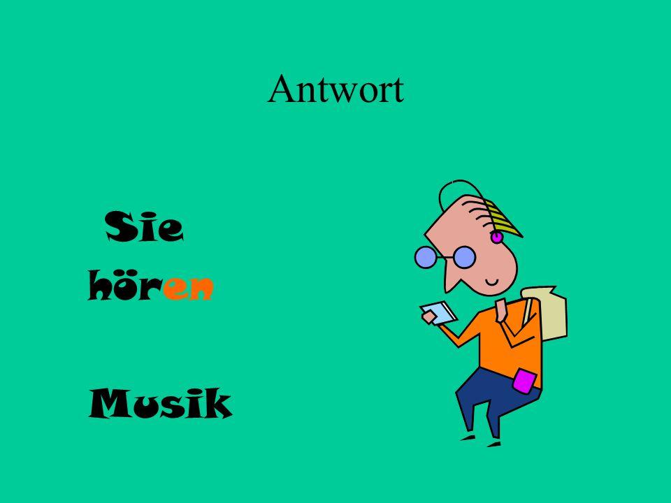 5 Sie + hören Musik