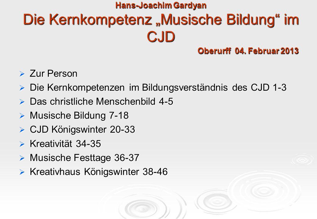 Das Bildungsverständnis des CJD Hirsauer Blatt 18, 2012 Grundannahmen des CJD Bildungsverständnisses:  - Wir lieben Menschen, denn Gott liebt uns Menschen.