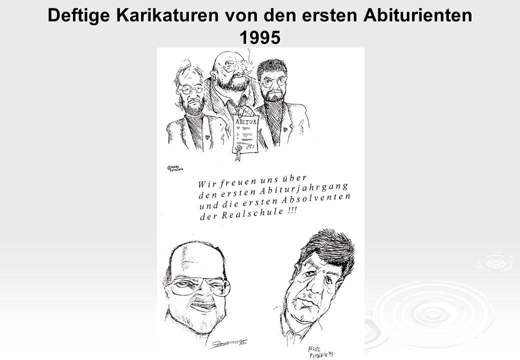 Deftige Karikaturen von den ersten Abiturienten 1995