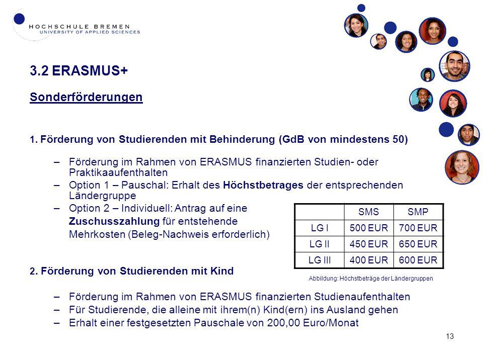 13 3.2 ERASMUS+ Sonderförderungen 1.