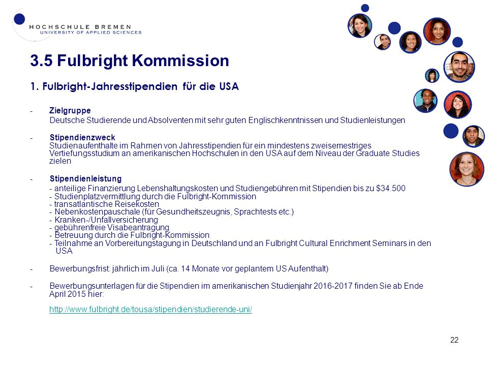 22 3.5 Fulbright Kommission 1.