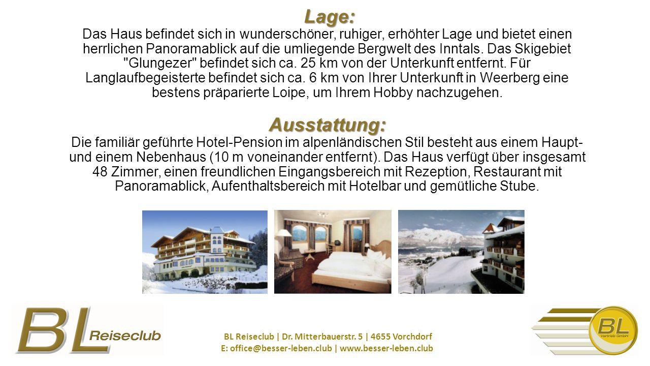 Lage: Ausstattung: Lage: Das Haus befindet sich in wunderschöner, ruhiger, erhöhter Lage und bietet einen herrlichen Panoramablick auf die umliegende Bergwelt des Inntals.