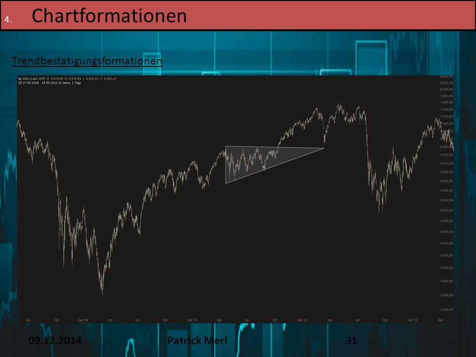 09.12.2014Patrick Merl31 4. Chartformationen Trendbestätigungsformationen