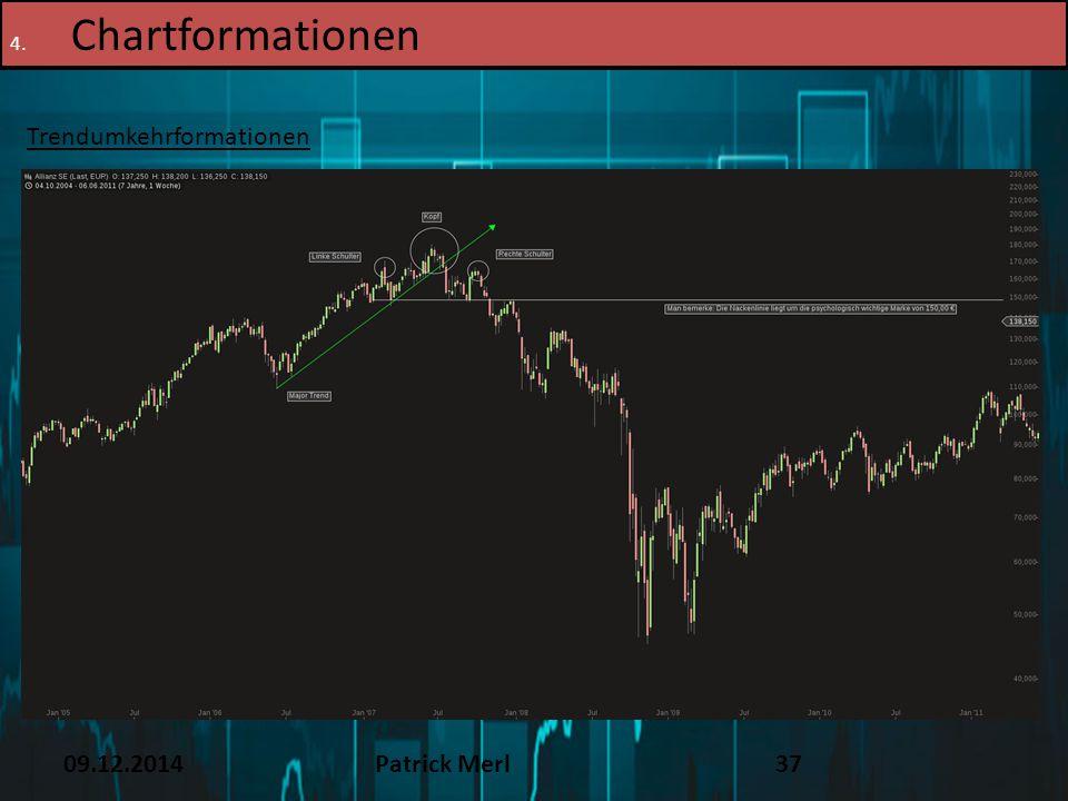 09.12.2014Patrick Merl37 4. Chartformationen Trendumkehrformationen
