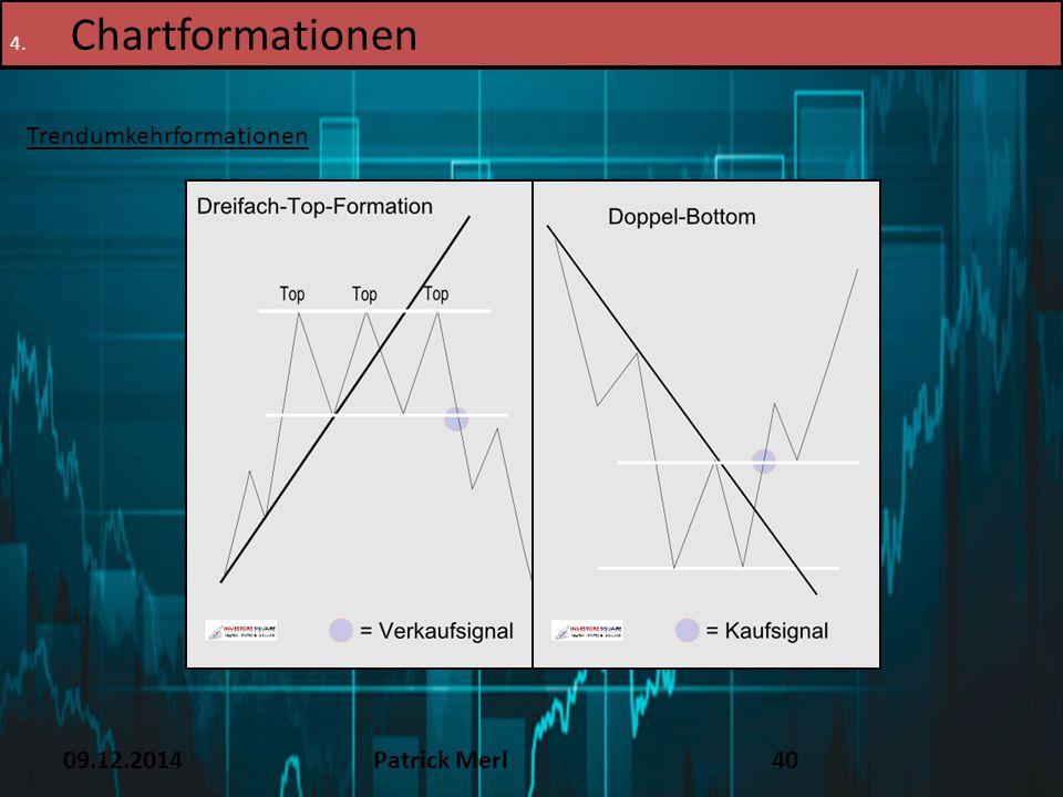 09.12.2014Patrick Merl40 4. Chartformationen Trendumkehrformationen