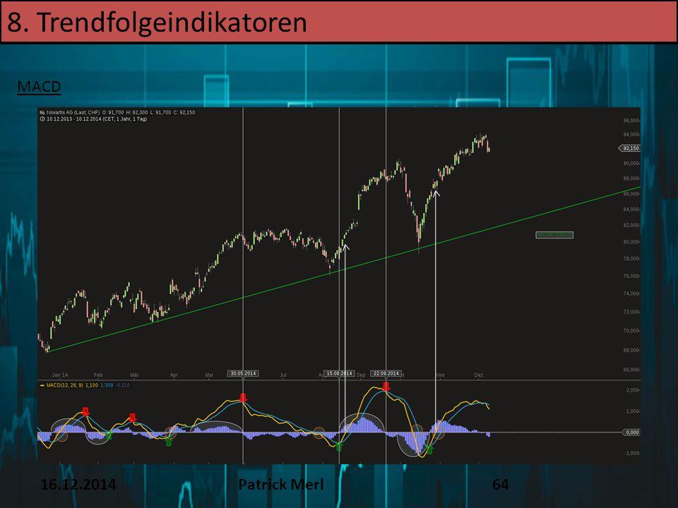 16.12.2014Patrick Merl64 8. Trendfolgeindikatoren MACD