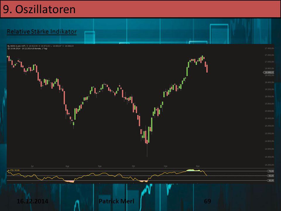 16.12.2014Patrick Merl69 Relative Stärke Indikator 9. Oszillatoren
