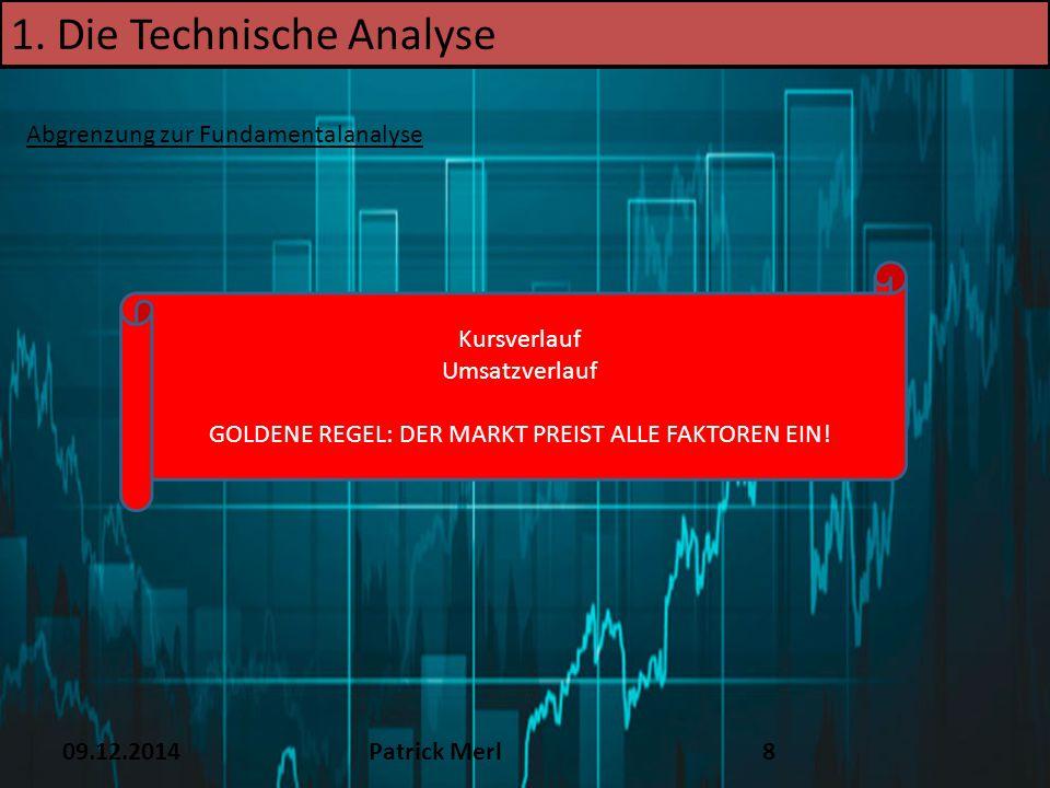09.12.2014Patrick Merl39 4.Chartformationen Trendumkehrformationen 2.