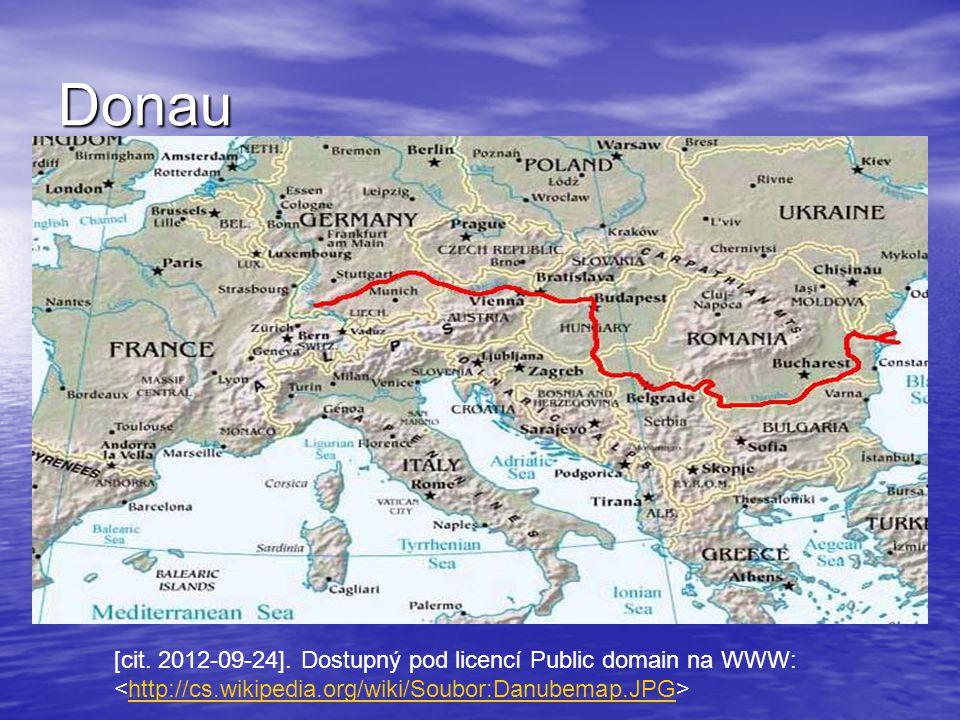 Donau [cit. 2012-09-24]. Dostupný pod licencí Public domain na WWW: http://cs.wikipedia.org/wiki/Soubor:Danubemap.JPG