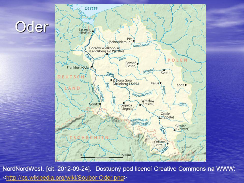 Oder NordNordWest. [cit. 2012-09-24]. Dostupný pod licencí Creative Commons na WWW: http://cs.wikipedia.org/wiki/Soubor:Oder.png