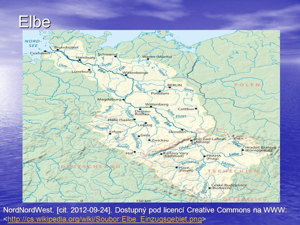 Elbe NordNordWest. [cit. 2012-09-24]. Dostupný pod licencí Creative Commons na WWW: http://cs.wikipedia.org/wiki/Soubor:Elbe_Einzugsgebiet.png