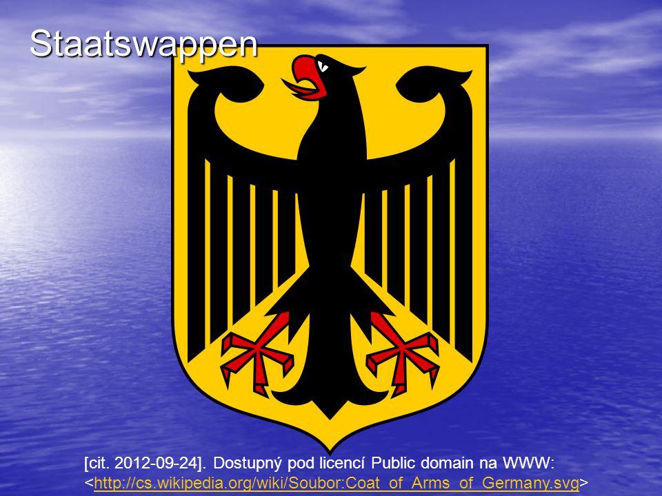 [cit. 2012-09-24]. Dostupný pod licencí Public domain na WWW: http://cs.wikipedia.org/wiki/Soubor:Coat_of_Arms_of_Germany.svg Staatswappen