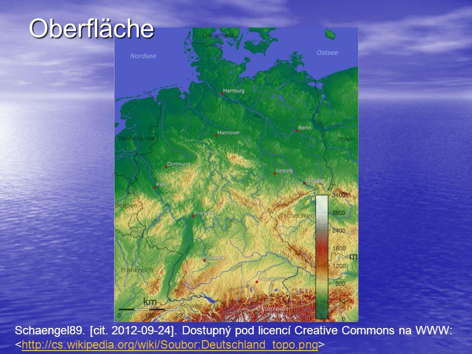 Schaengel89. [cit. 2012-09-24]. Dostupný pod licencí Creative Commons na WWW: http://cs.wikipedia.org/wiki/Soubor:Deutschland_topo.png Oberfläche