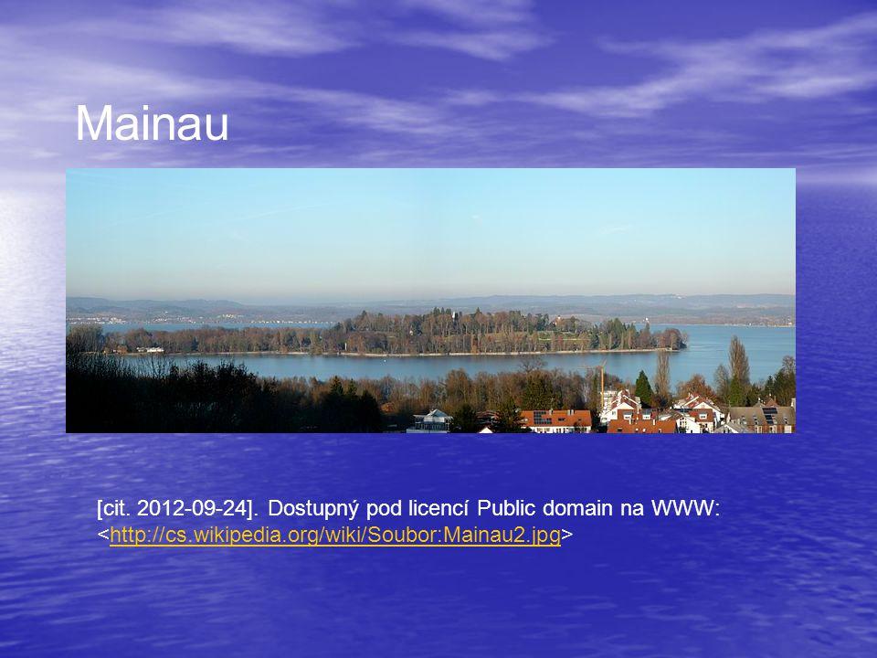 [cit. 2012-09-24]. Dostupný pod licencí Public domain na WWW: http://cs.wikipedia.org/wiki/Soubor:Mainau2.jpg Mainau
