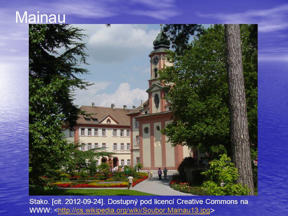 Stako. [cit. 2012-09-24]. Dostupný pod licencí Creative Commons na WWW: http://cs.wikipedia.org/wiki/Soubor:Mainau13.jpg Mainau
