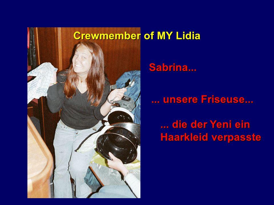 Crewmember of MY Lidia Susi...... die Nachwuchs- kapitänin