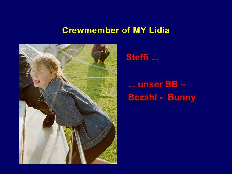 Crewmember of MY Lidia Agnes...... Madonna Doubel und Schafretter