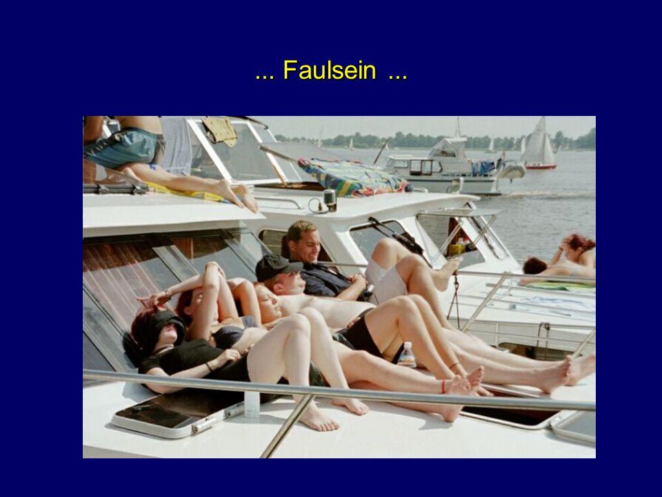 ... morgens um halb Zehn an Bord...