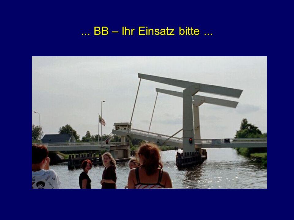 ... Gegenverkehr auf dem Kanal...