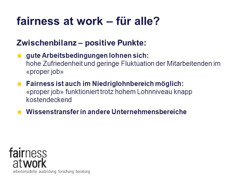 fairness at work – für alle.