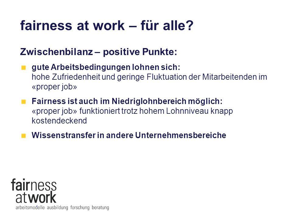 fairness at work – für alle.