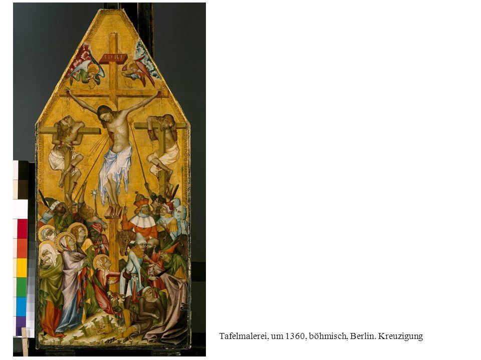 Mosaik, 2. Hälfte 11 Jh., Daphni, Christus am Kreuz, Maria, Johannes