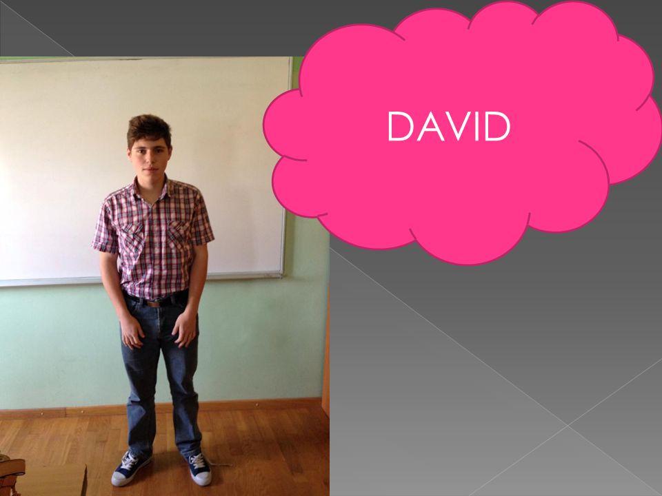  Ich heiße David  Ich bin 17Jahre alt  Im Horoskop bin ich Fische  Ich wohne in Oporovec  Mein Hobby ist Fußball  Mein Lieblingsessen ist Kebap  Meni Lieblingsgetränk ist Wasser  Ich mag meine Freizeit  Ich mag die Schule nicht