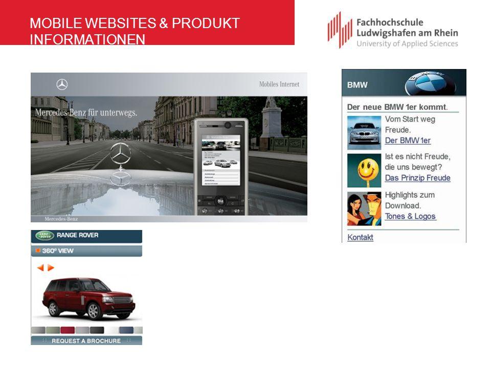 MOBILE WEBSITES & PRODUKT INFORMATIONEN