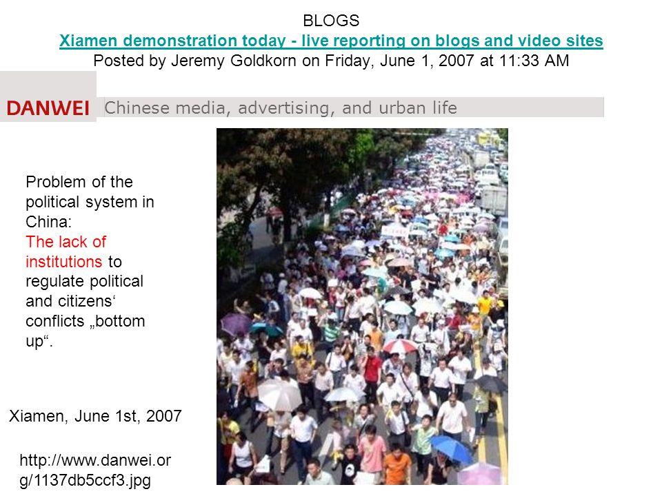Wang, Science, 2010 Die Mittelklasse engagiert sich?