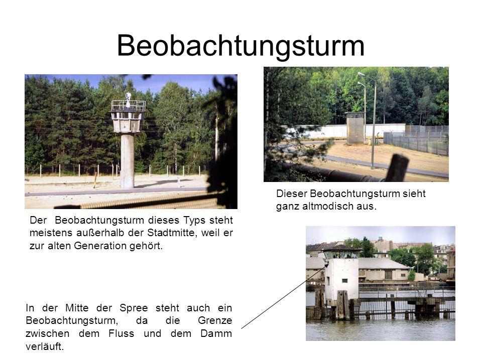 Beobachtungsturm Der Beobachtungsturm dieses Typs steht meistens außerhalb der Stadtmitte, weil er zur alten Generation gehört.