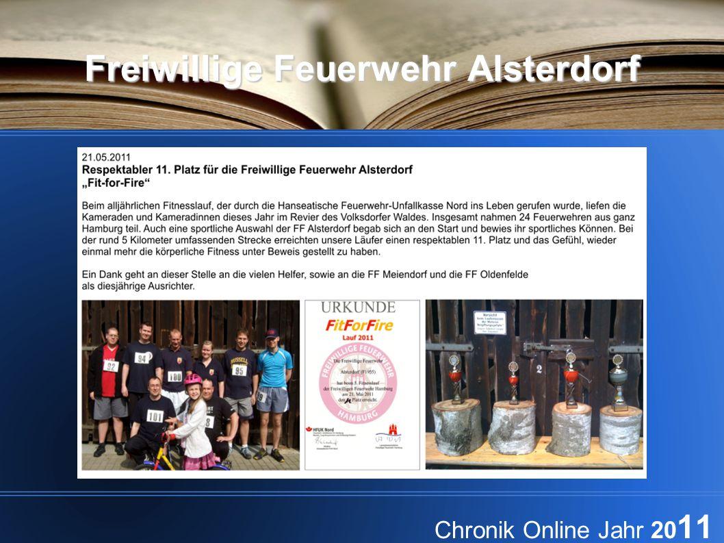Freiwillige Feuerwehr Alsterdorf Chronik Online Jahr 20 11