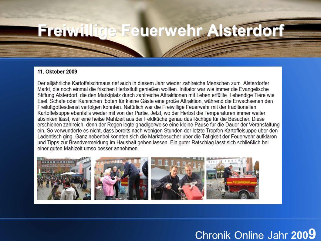 Freiwillige Feuerwehr Alsterdorf Chronik Online Jahr 200 9