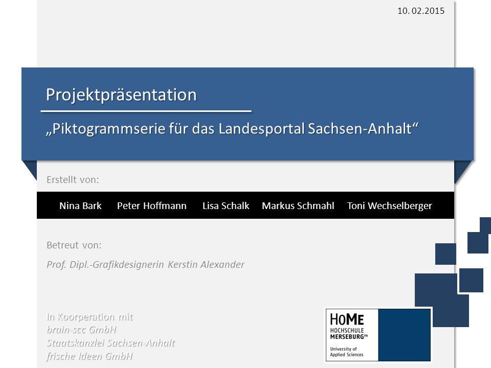 """Projektpräsentation """"Piktogrammserie für das Landesportal Sachsen-Anhalt In Koorperation mit brain-scc GmbH Staatskanzlei Sachsen-Anhalt frische Ideen GmbH 10."""