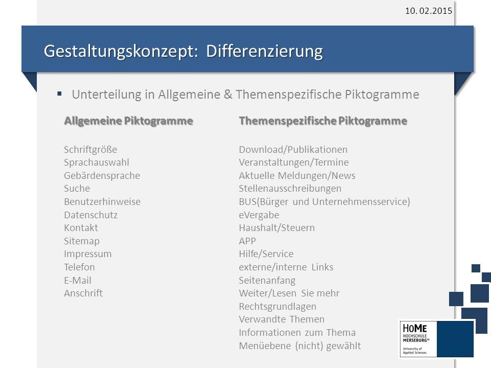 Gestaltungskonzept: Differenzierung 10.