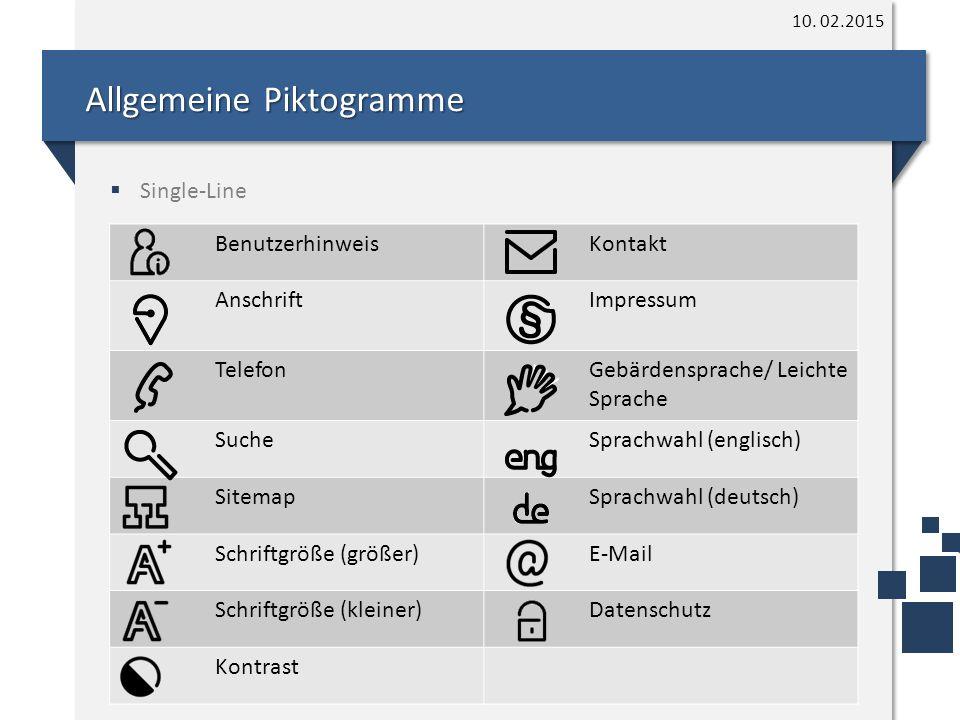 Allgemeine Piktogramme 10.