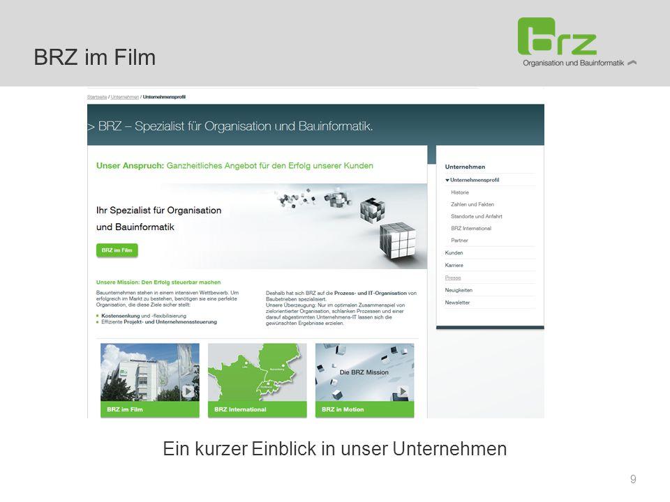Ein kurzer Einblick in unser Unternehmen 9 BRZ im Film
