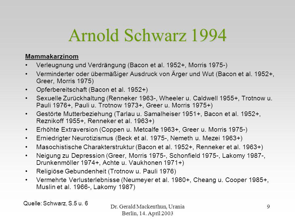 Dr.Gerald Mackenthun, Urania Berlin, 14.