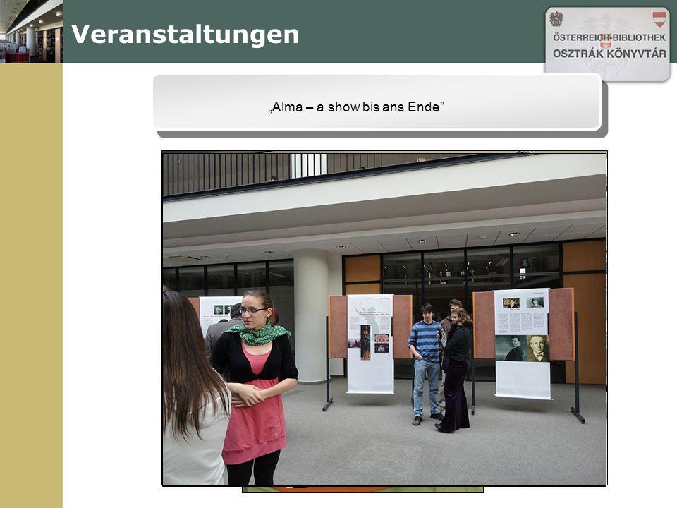 """Veranstaltungen """"Alma – a show bis ans Ende"""