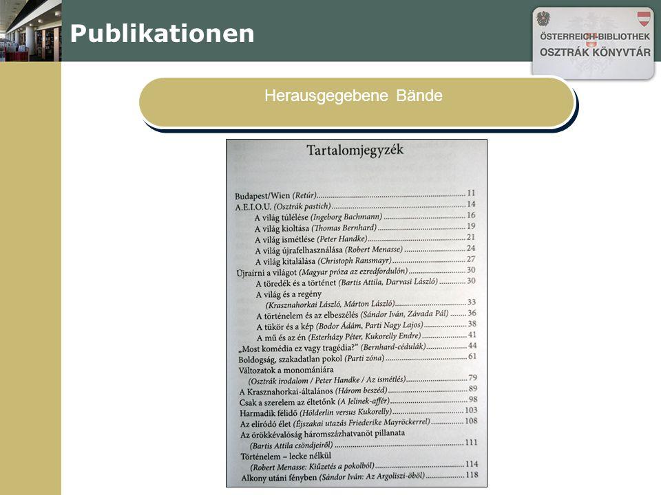 Publikationen Herausgegebene Bände