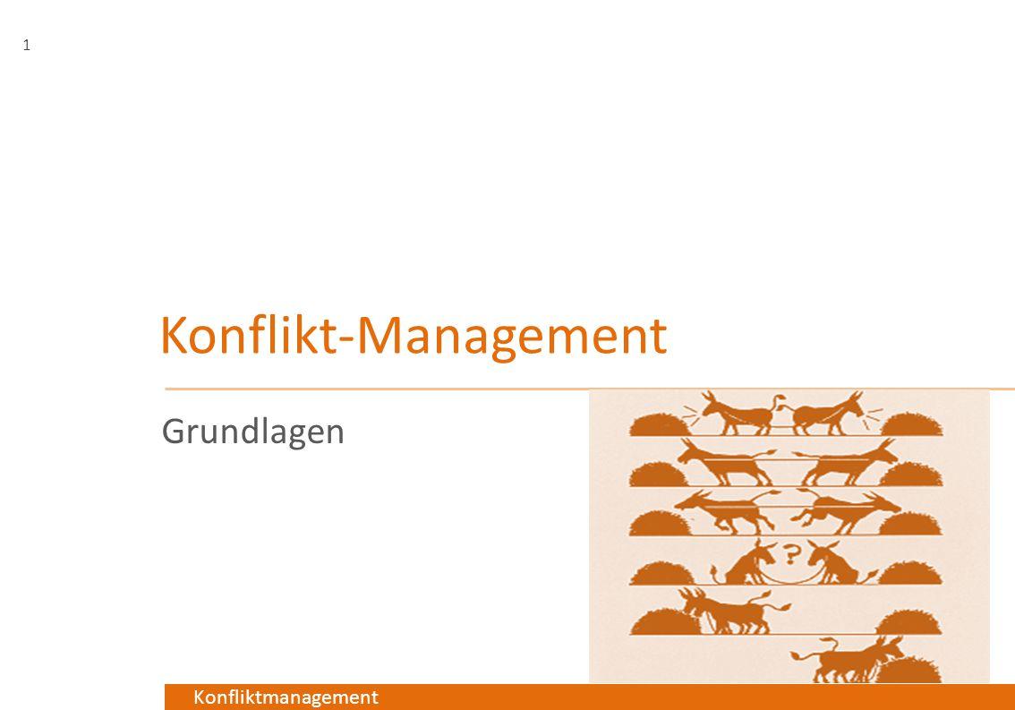 Konfliktmanagement Konflikt-Management Grundlagen 1