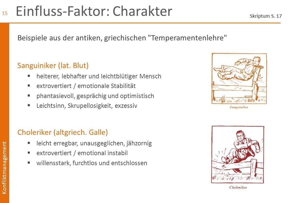 Konfliktmanagement Einfluss-Faktor: Charakter Beispiele aus der antiken, griechischen
