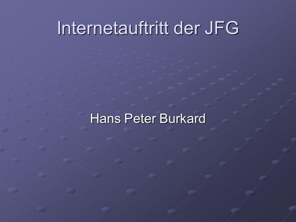Internetauftritt der JFG Hans Peter Burkard
