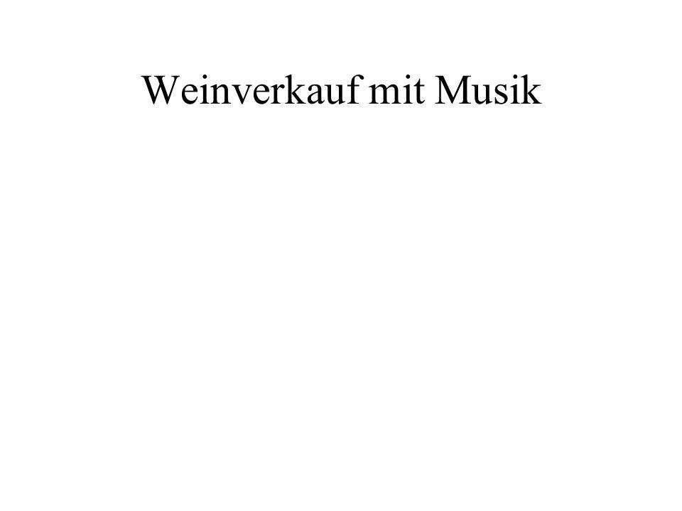 Weinverkauf mit Musik