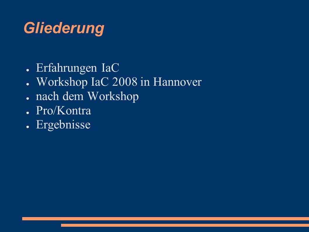Erfahrungen IaC 2008 ● Chipentwicklung ist schwer.