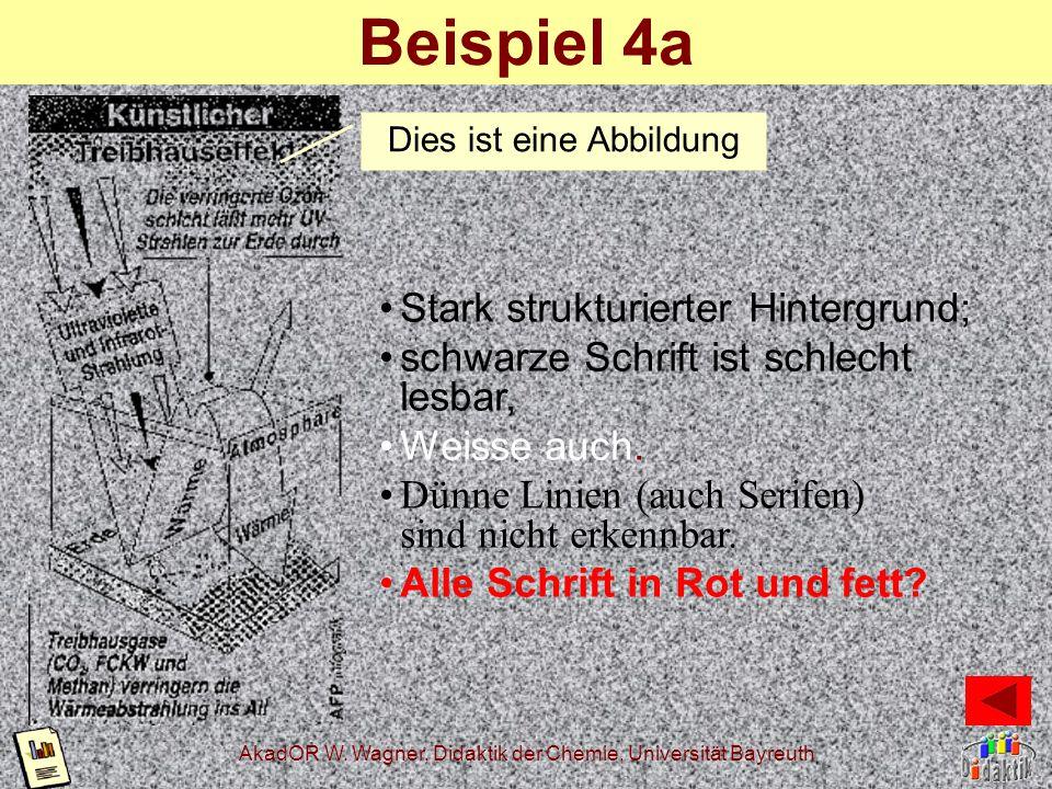 AkadOR W. Wagner, Didaktik der Chemie, Universität Bayreuth Der Kontrast Tina ist doof. Klaus auch.