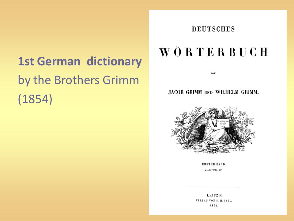 1st German dictionary by the Brothers Grimm (1854)