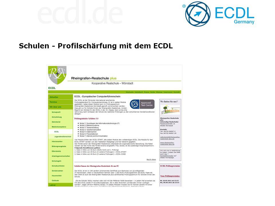 Schulen - Profilschärfung mit dem ECDL
