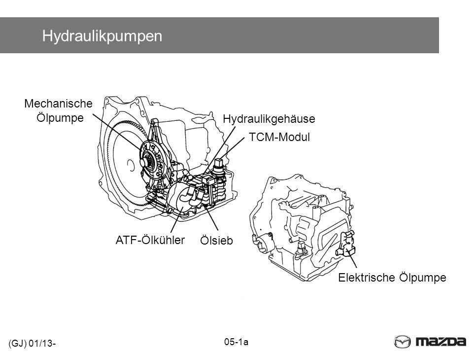 Hydraulikpumpen Elektrische Ölpumpe TCM-Modul Hydraulikgehäuse ATF-Ölkühler Mechanische Ölpumpe Ölsieb (GJ) 01/13- 05-1a